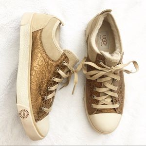 Ugg Australia Evera Bronze Sheepskin Tennis Shoes